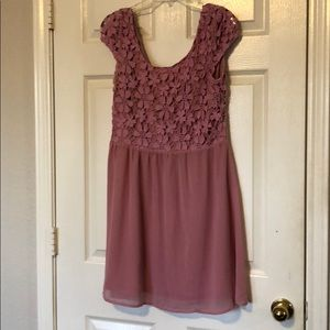 Charming Charlie Dusty Rose Dress